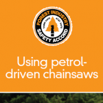Using petrol-driven chainsaws - 301