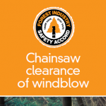 Chainsaw clearance of windblow - 306